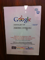 Internal poster for the event at Google