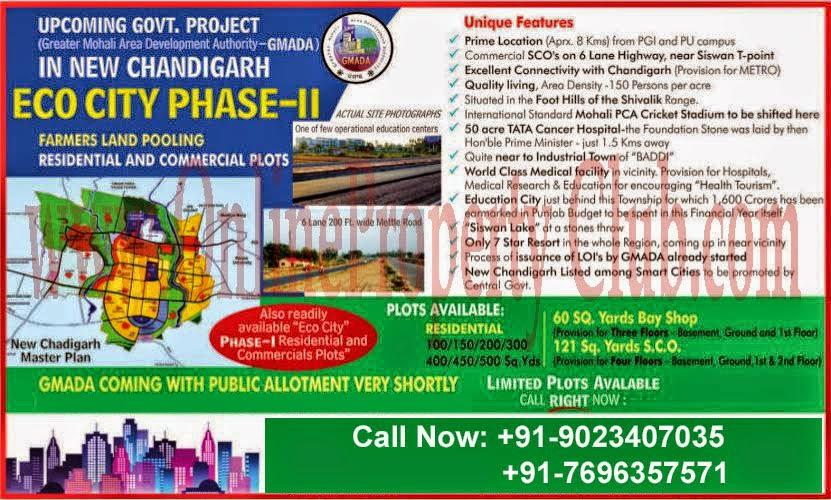 GMADA ECOCITY PHASE 2 MULLANPUR NEW-CHANDIGARH