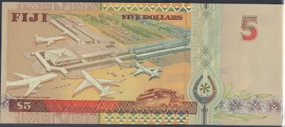 Fiji 5 Dollar 1995 P# 97