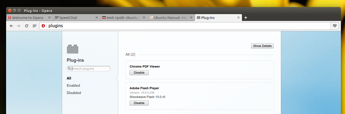 How To Get Flash And H.264 To Work In Opera Browser (Ubuntu 14.04 ...