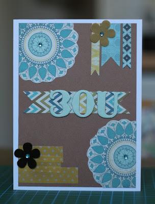 Geburtstagskarte Scrapabilly Kit Juni 2012 Scrapbooking