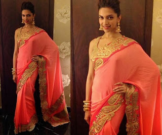 Deepika Padukone hot saree stills