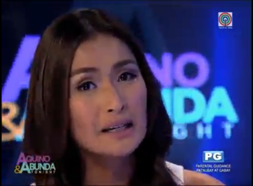 Phoemela Baranda who is interviewed in Aquino and Abunda Tonight shares her reaction over nichole baranda
