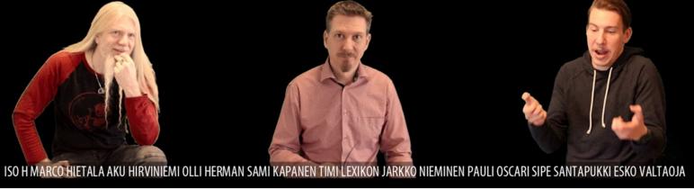 RMcC1 Youtubessa. Lukijoina mm. Aku Hirviniemi ja Marco Hietala!