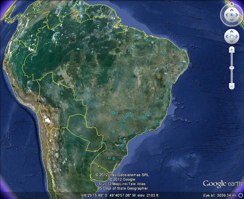 Brazil Map Google Earth - Google map of brazil