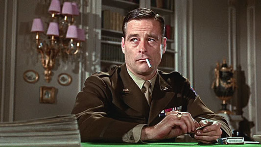 Robert Webber playing a General in The Dirty Dozen movieloversreviews.filminspector.com