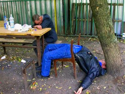 Drunk Russian Yoga