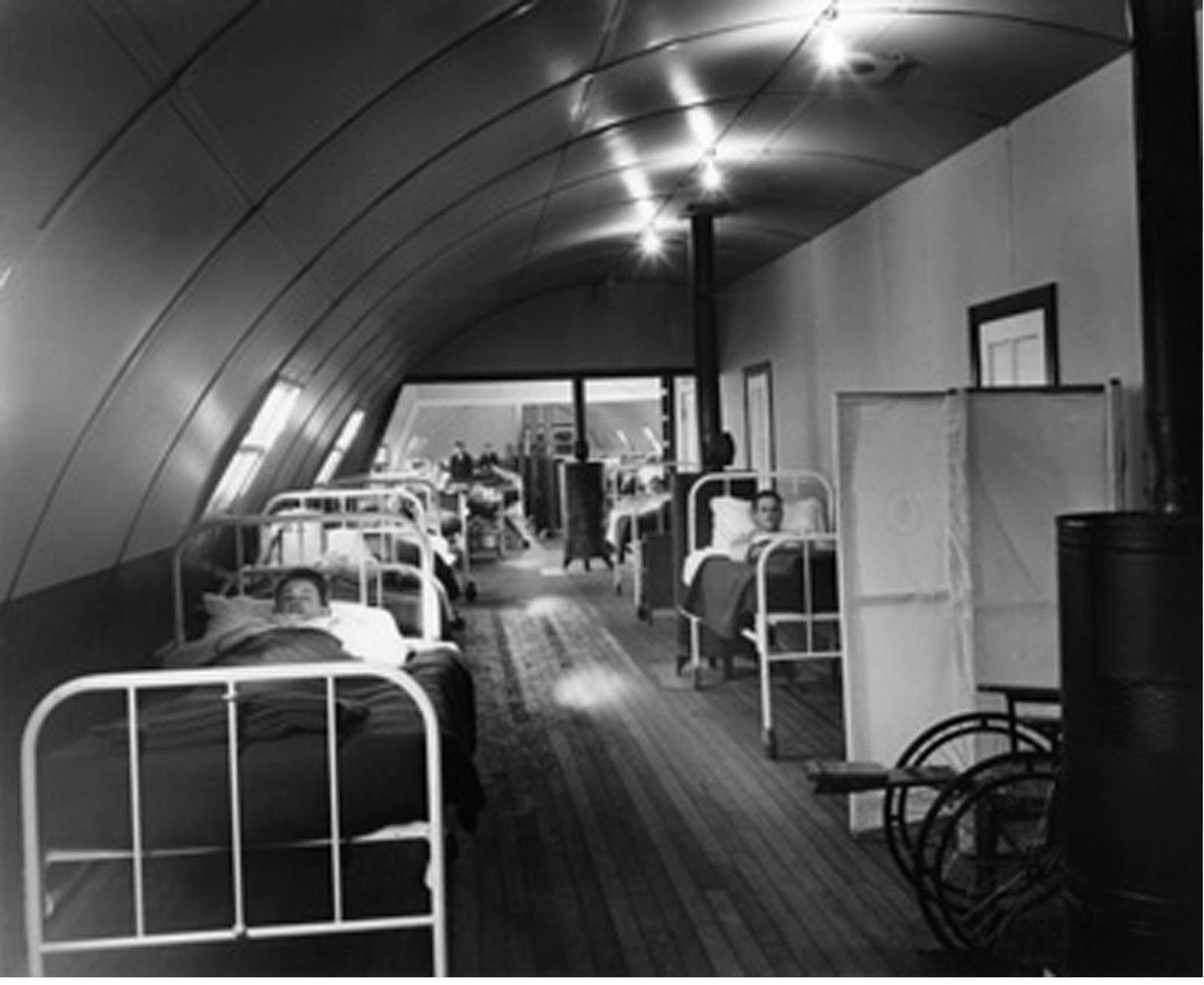 Interior Of Naval Hospital, Attu, AK,