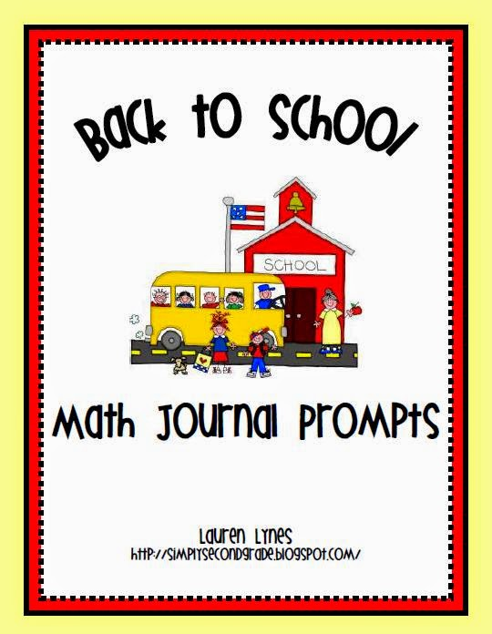 http://www.teacherspayteachers.com/Product/Math-Journal-Prompts-Back-to-School-266957