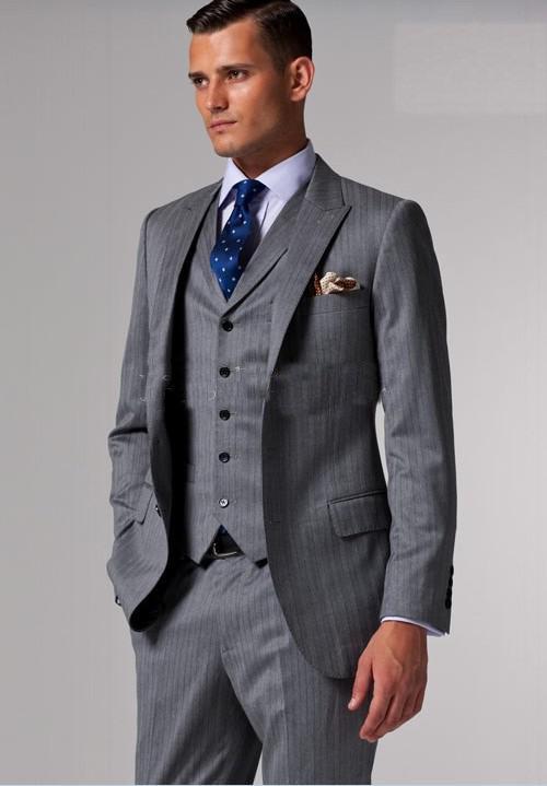 Mens 3 Piece Grey Suits