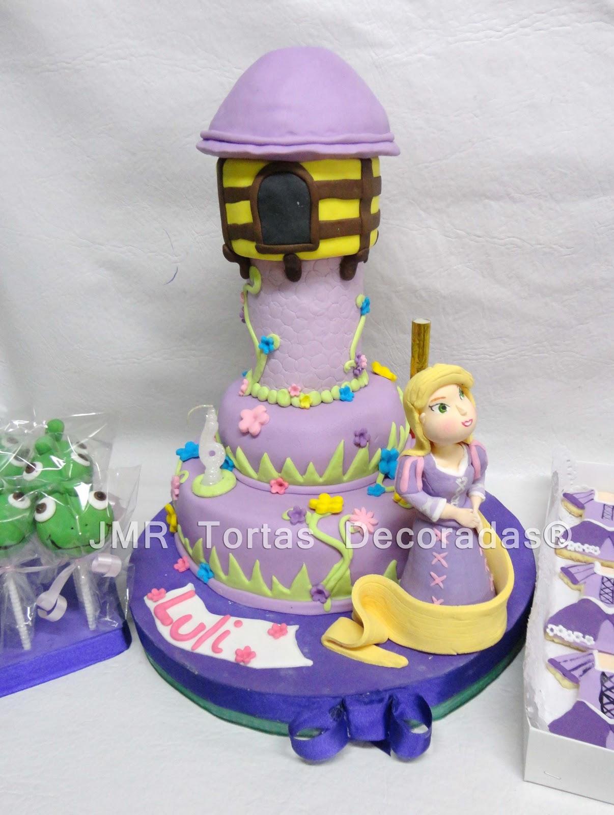 Torta, cake pops y cookies Rapunzel | JMR Tortas Decoradas