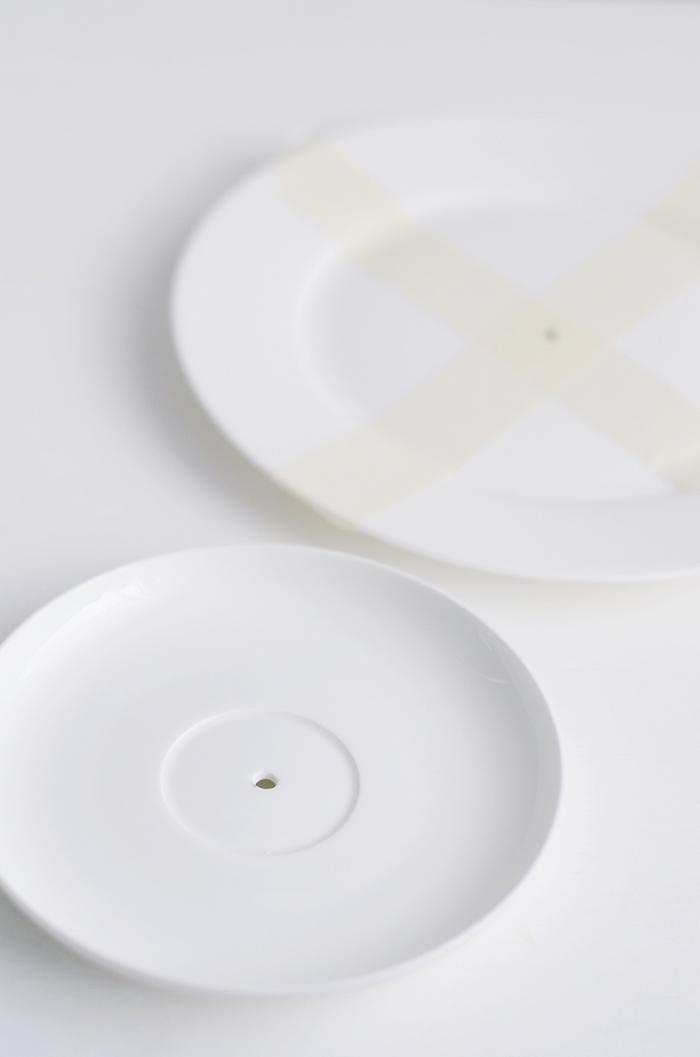 proceso para taladrar porcelana- diy expositor de tartas
