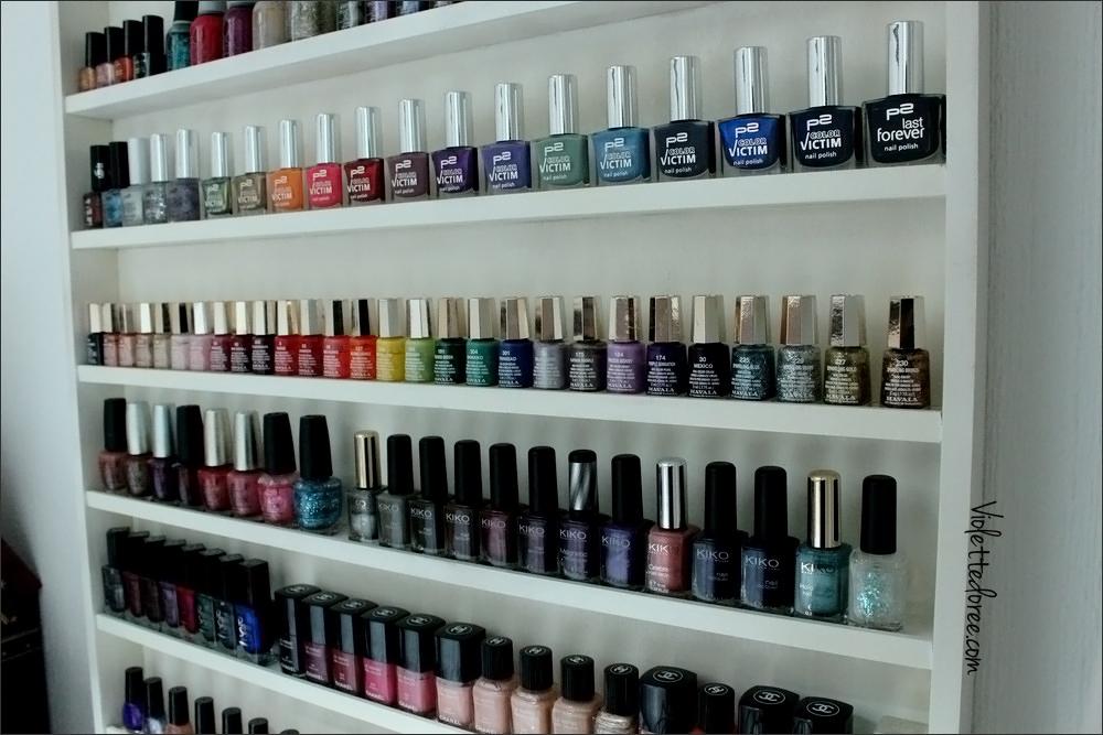 Violette Dorée, blog nail art beauté: Comment ranger ses vernis à ongles