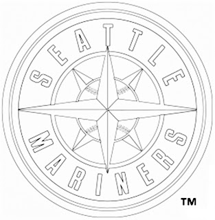 Escudo de los marineros de Seattle para colorear