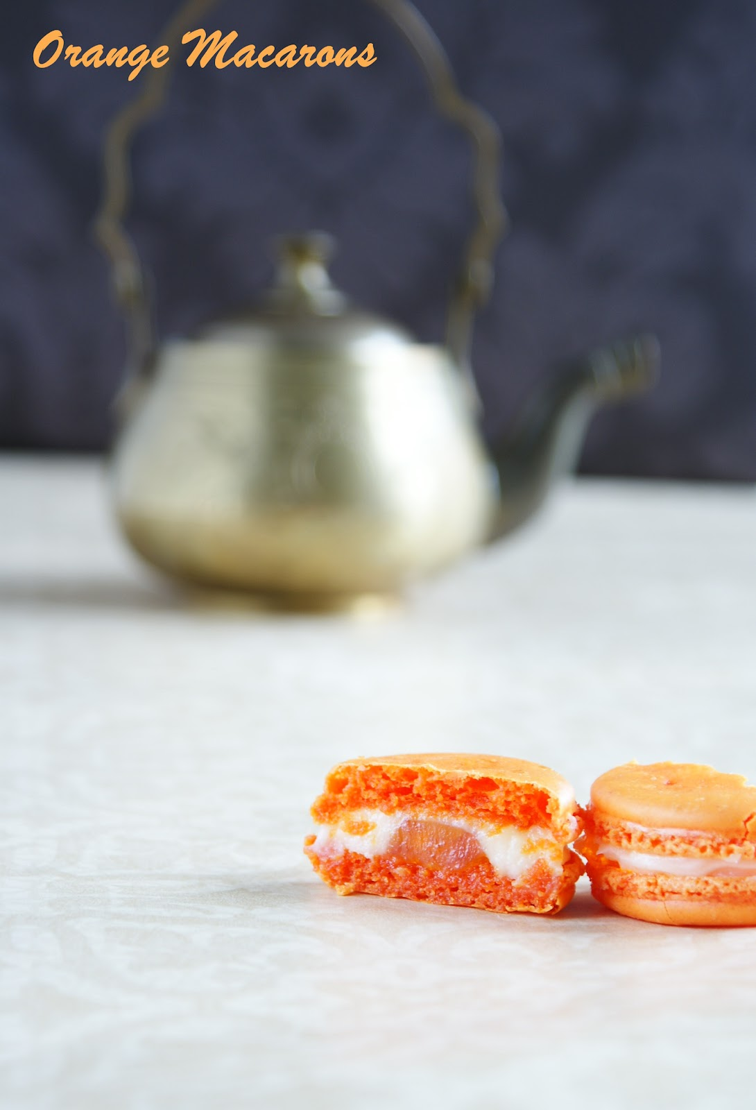 Shab\'s Cuisine: Celebration Time - Orange Macarons with Cream Cheese ...