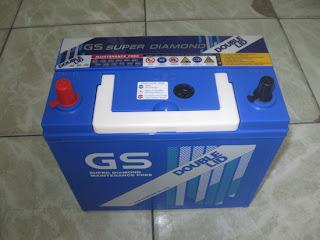 แบตเตอรี่ GS D60-DL (DOUBLE-LID)