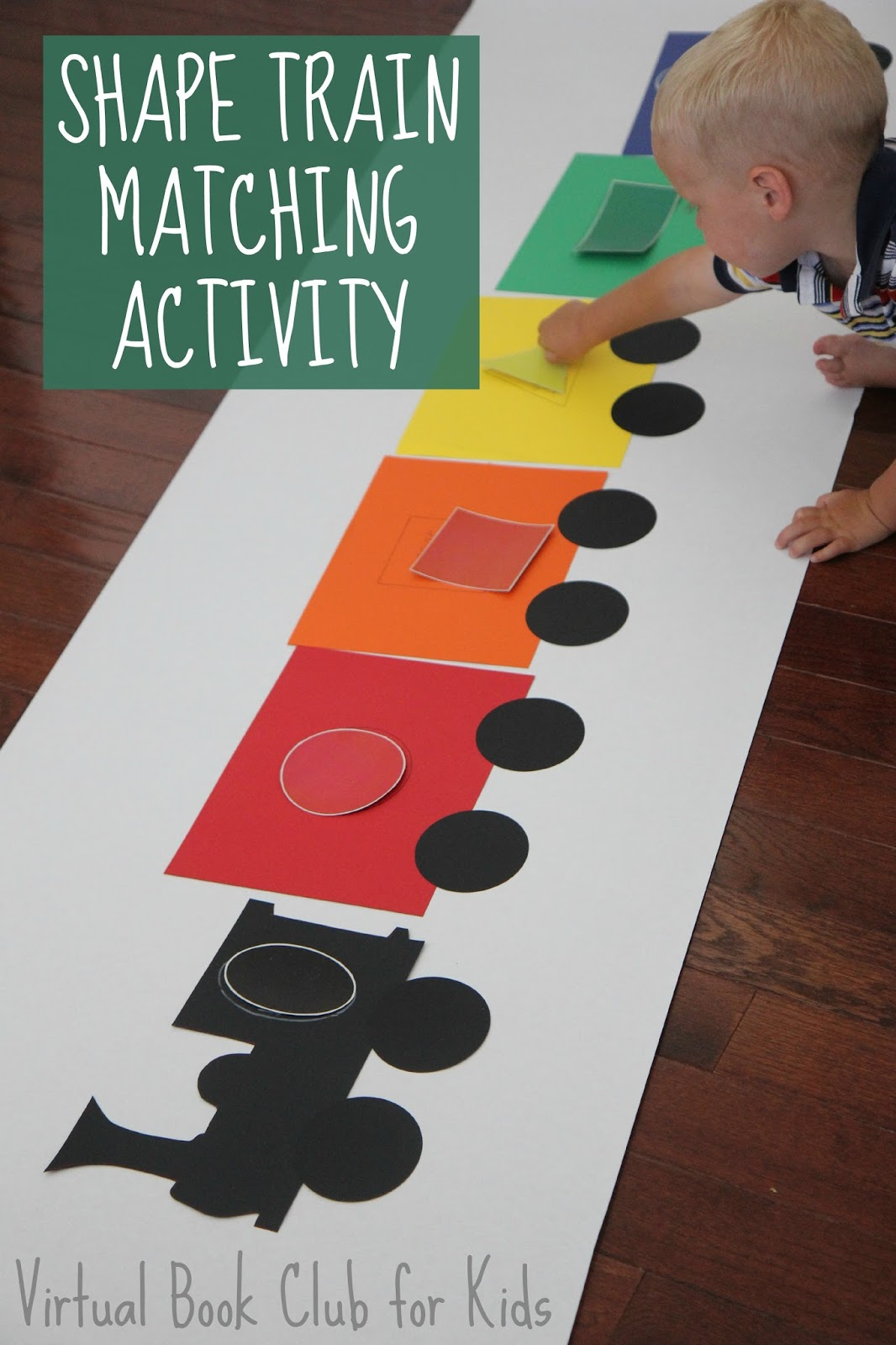 Toddler approved shape train matching activity for Art and craft games
