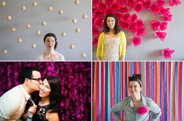 De lunares y naranjas photocall para bodas - Fondos para photocall ...