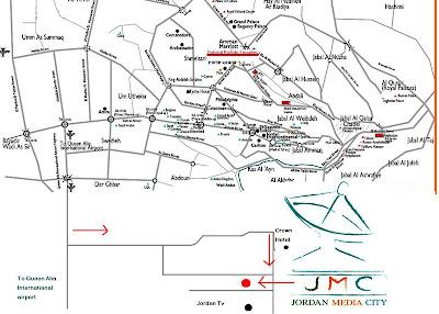 Jordan Amman map