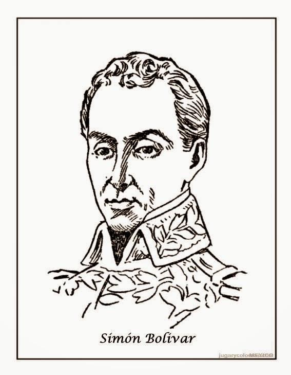 MAESTRA ERIKA VALECILLO: Simón Bolívar Para colorear II