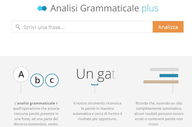 risolutore analisi grammaticale automatico