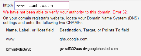 Blogger Verification Error