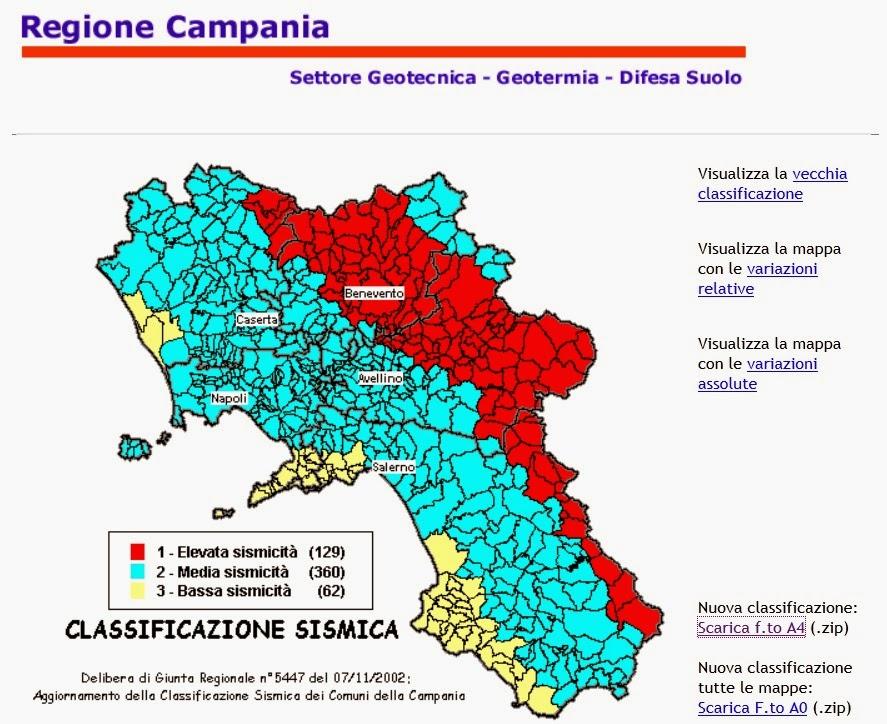 Classificazione sismica in provincia di caserta ecco tutti i dati comune per comune relativi - Piscine caserta e provincia ...