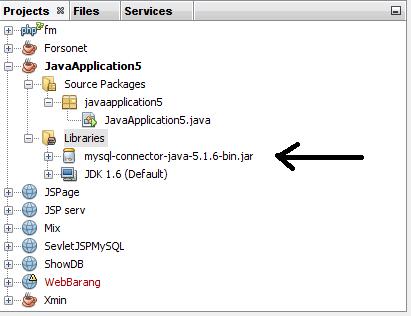 Menambahkan MySQL Connector, Java Netbeans, Database MySQL