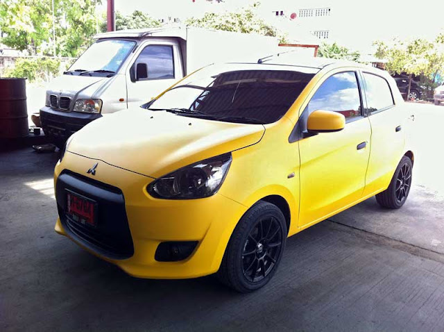 modified Mitsubishi Mirage from Thailand