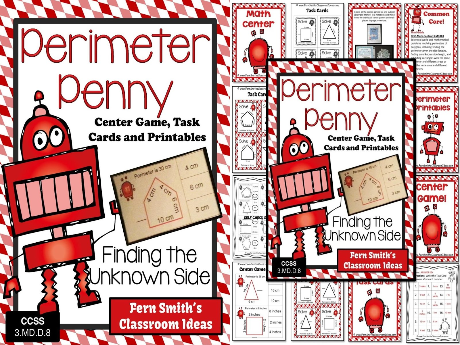 Perimeter Penny Mega Math Pack - Finding the Unknown Side for the Perimeter