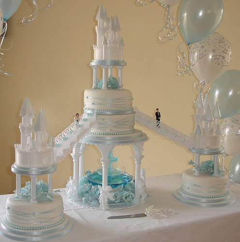 wedding cakes pictures with fountains 2012
