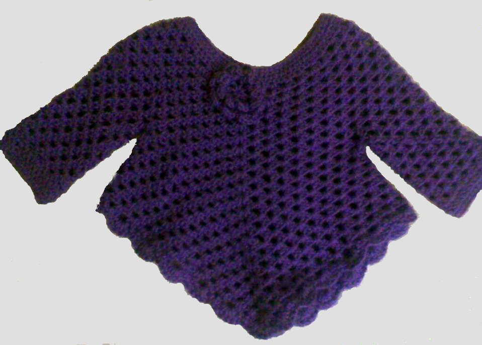 Free Crochet Pattern For Poncho Sweater : Earning-My-Cape: Crocheted Sweater Poncho