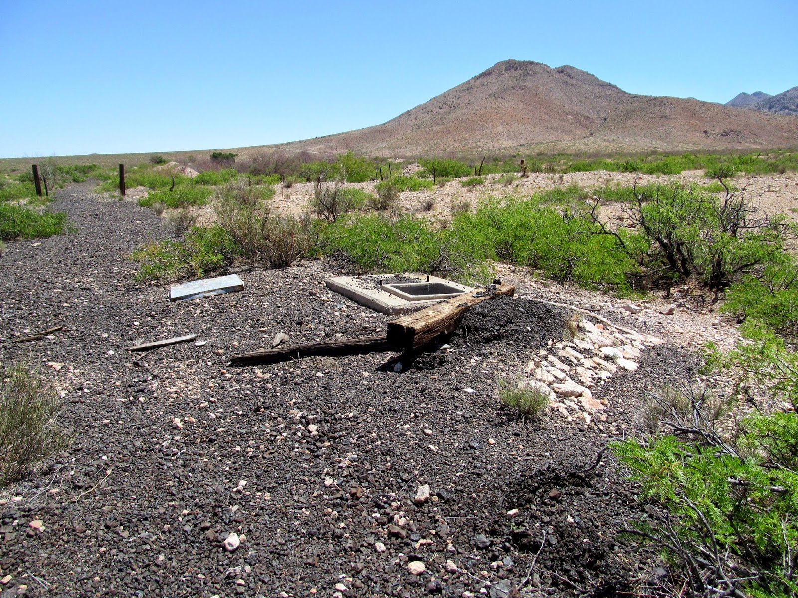 abandoned water stop on the El Paso and Southwestern railroad
