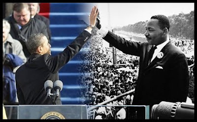 Sonhos opostos -  Barack Obama e Martin Luther King