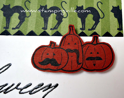 Mustached Halloween Pumpkins by Stampin' Up!