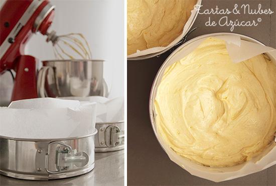 receta bizcocho básico para tartas fondant