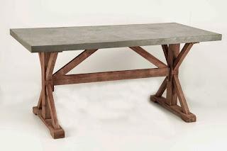 mesa grande rustica