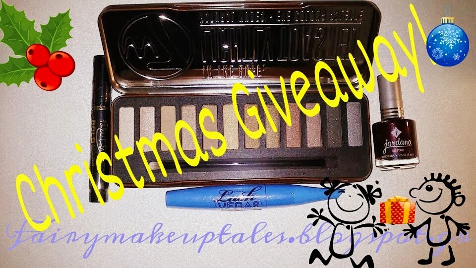 Christmas Giveaway with 4 essential make up products!