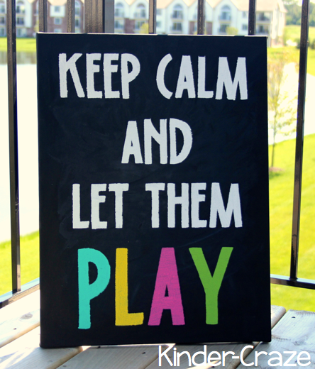 Keep Calm chalkboard sign