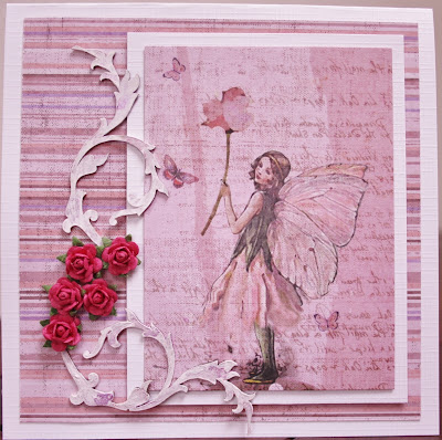 card, rose, elf, kaart, fabscrapbs