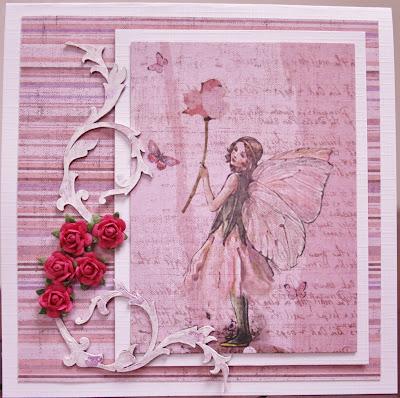 card, rose, elf, kaart, fabscrapbs