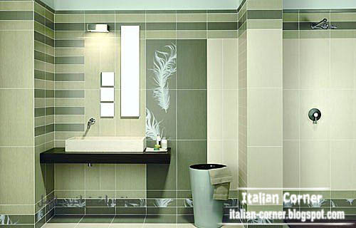 Italian Bathroom Tiles Design Green Wall Tiles Design