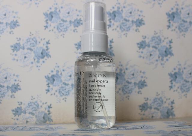 avon nail experts liquid freeze quick dry nail spray