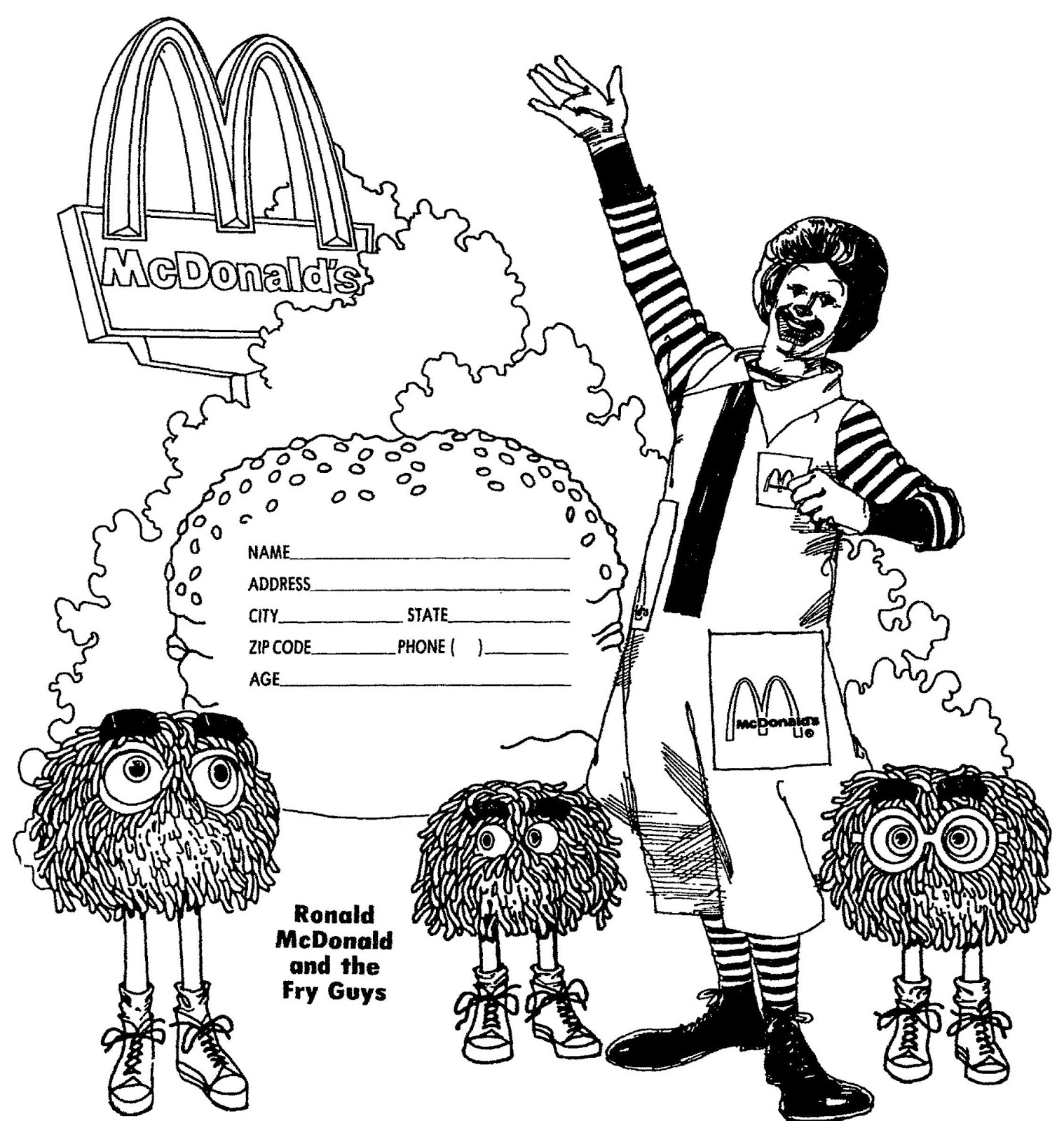 Free Coloring Pages Of Mc Donalds Logo