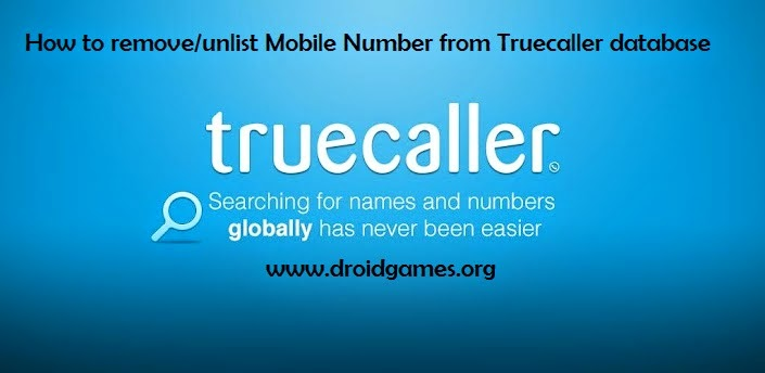remove unlist mobile number from truecaller