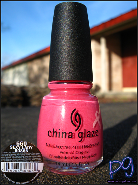 China Glaze Sexy Lady was one of the 2009 Breast Cancer Awareness colors in ...