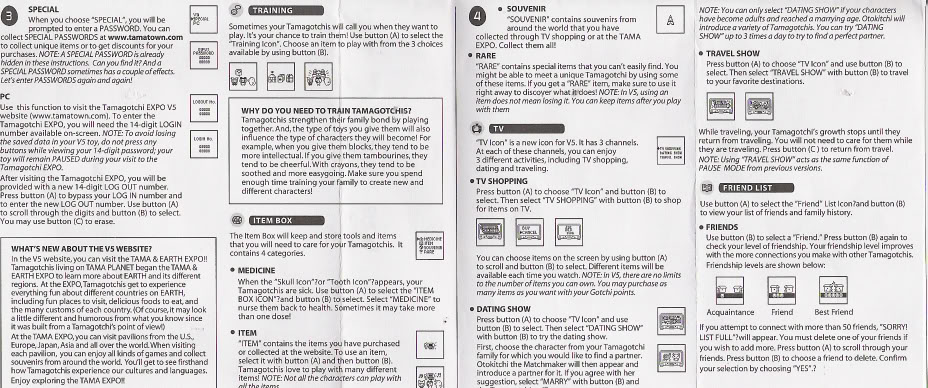 Tamagotchi Connection Instruction Manual