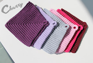 Charry Crocheted Dishcloths