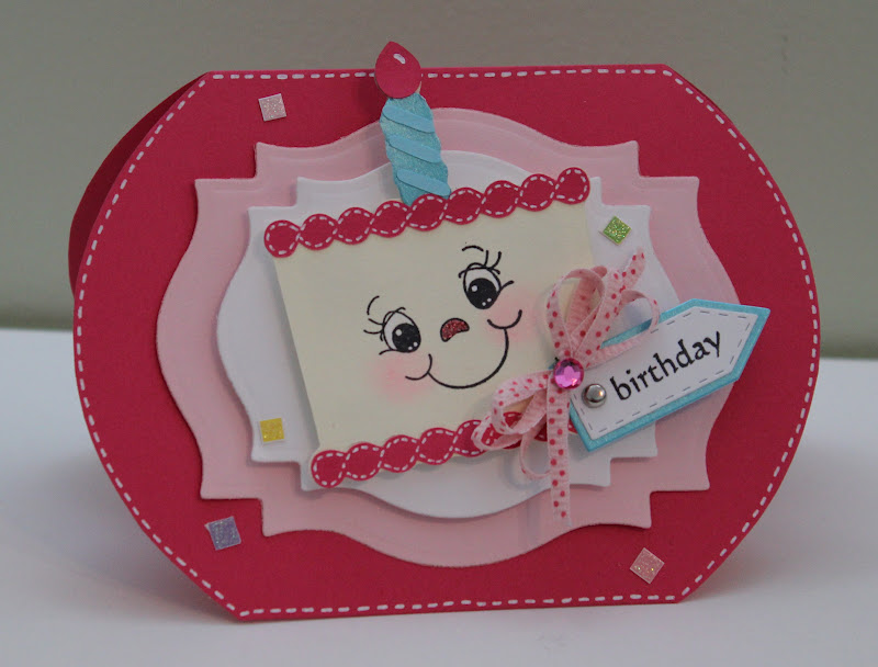Creative Ideas For Making Birthday Cards Part - 15: I Made This Card To Enter Some Exciting Challenges. I Like Birthday Cards  Made With The Cricut Because You Can Design It Yourself, Thank Goodness My  Mom ...