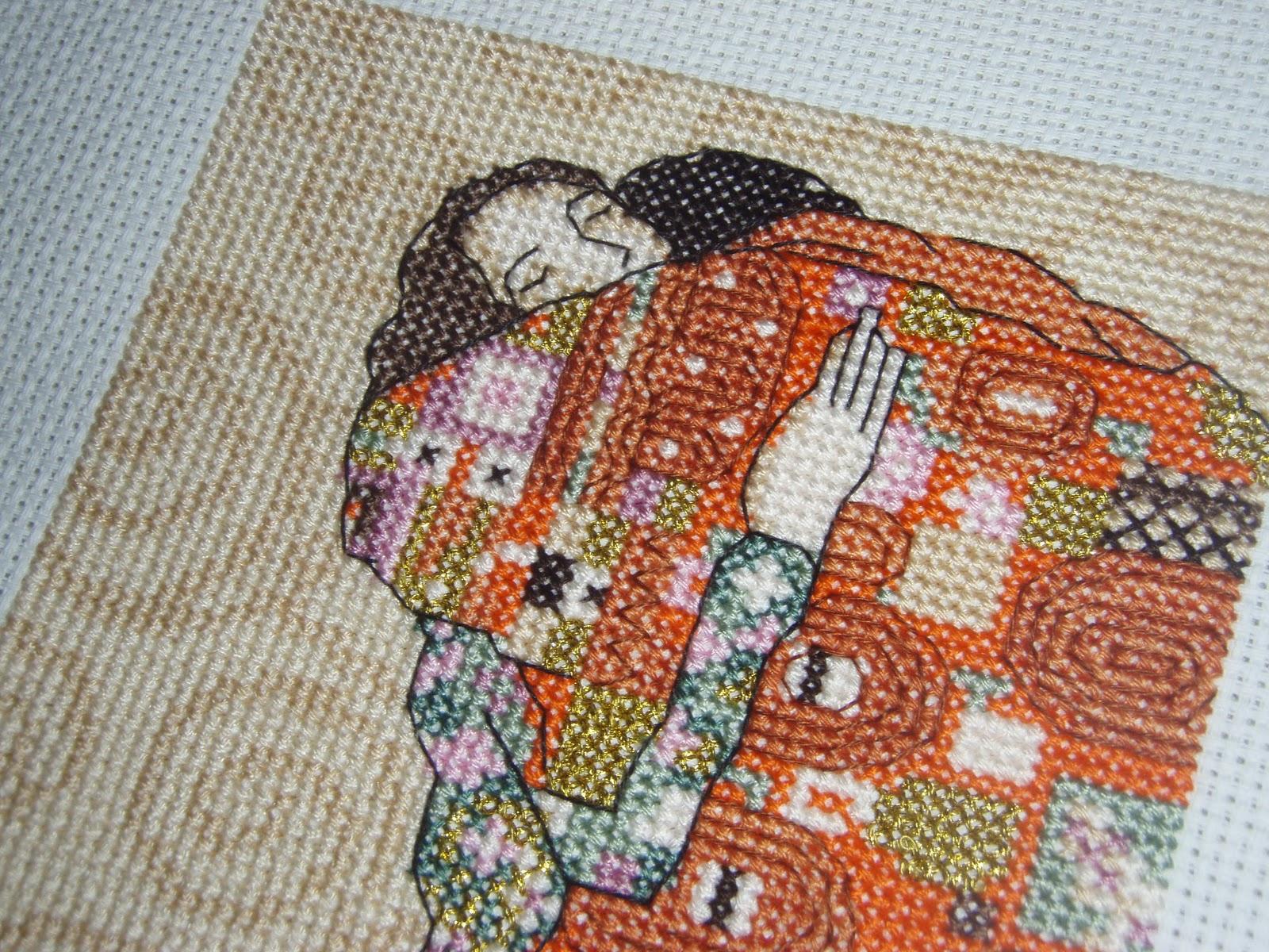 Схему вышивки климт поцелуй.